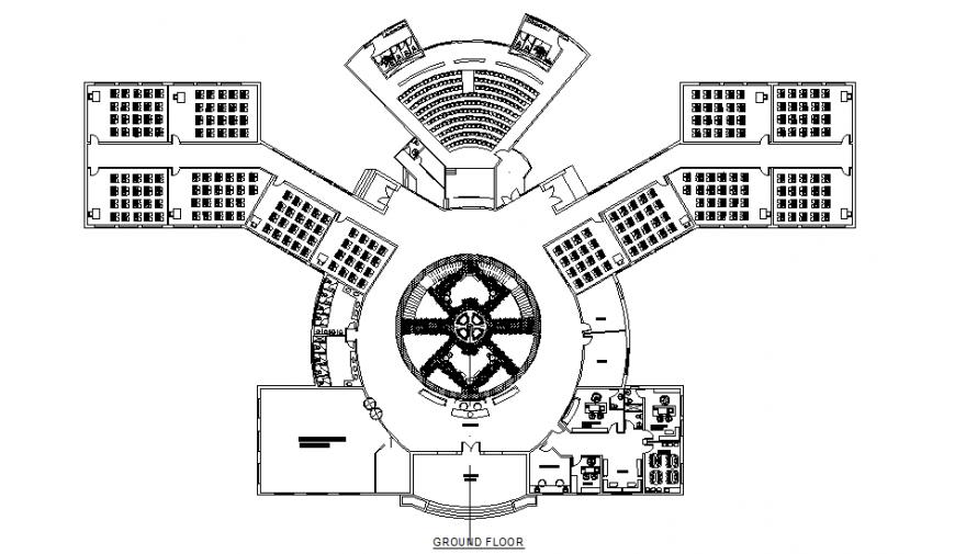 Ground floor school planning autocad file