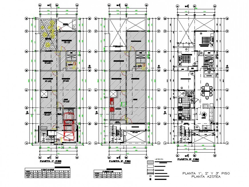 Ground floor to second floor house plan autocad file