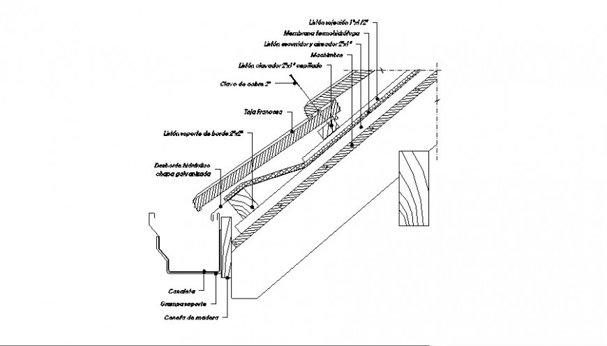 Constructive Section Roof Light And Wall Cad Structure Details Dwg Cadbull