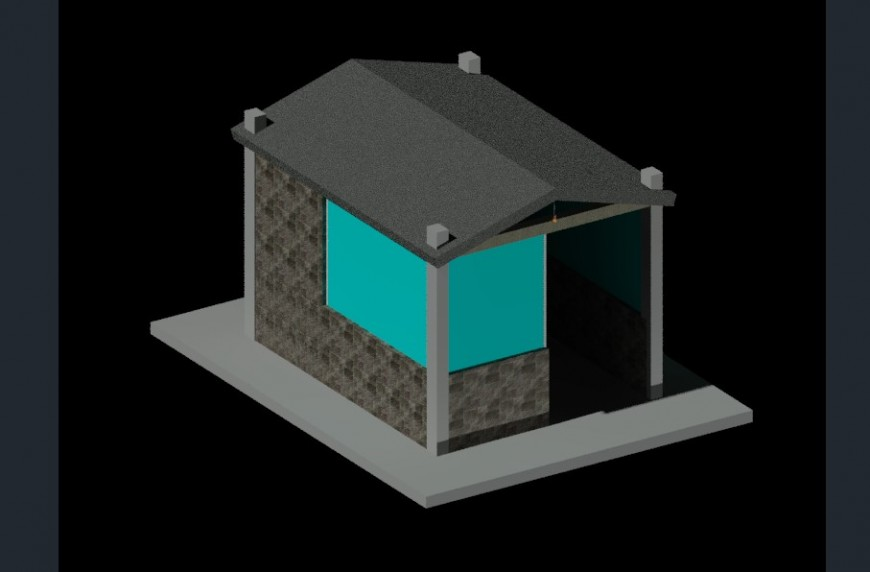 Guard house 3d model CAD drawings in autocad file