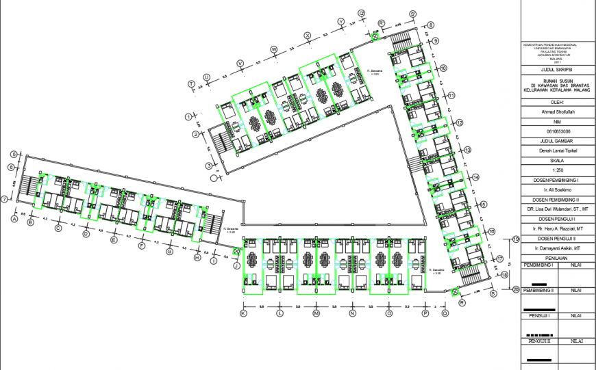 Guest house layout plan drawing in dwg AutoCAD file.