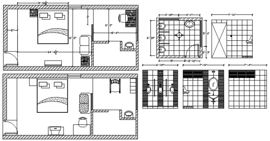 Guest house plan in AutoCAD file