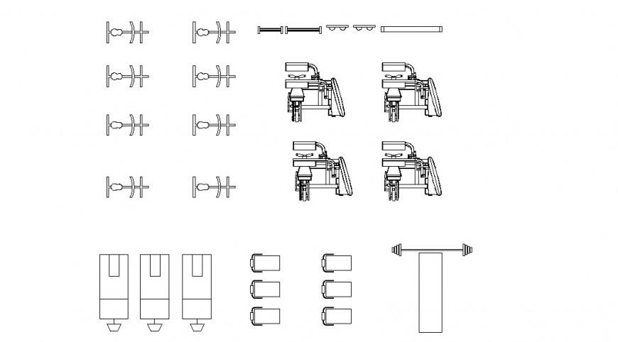 Gym equipment  design model detail dwg file