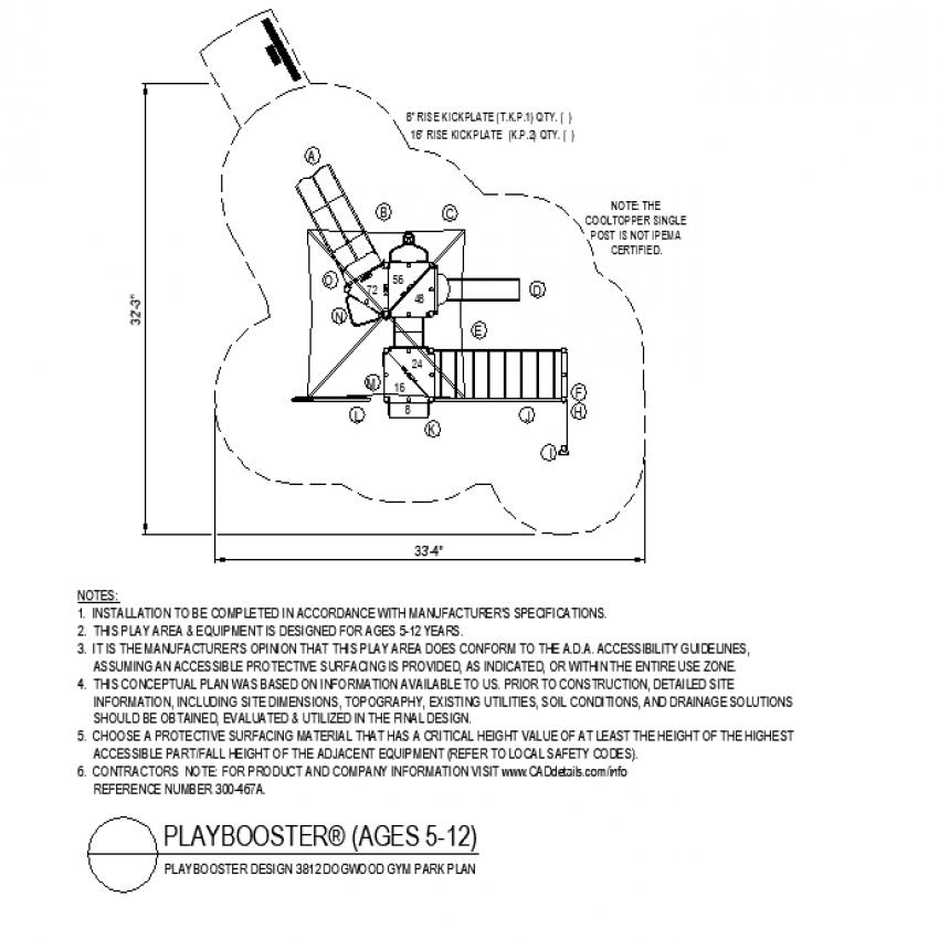 Gym park plan layout file