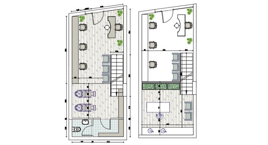 Hair salon design architectural plan