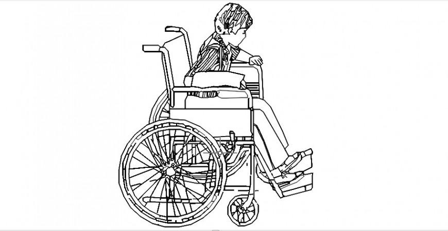 Handicap boy 2d sketch model file