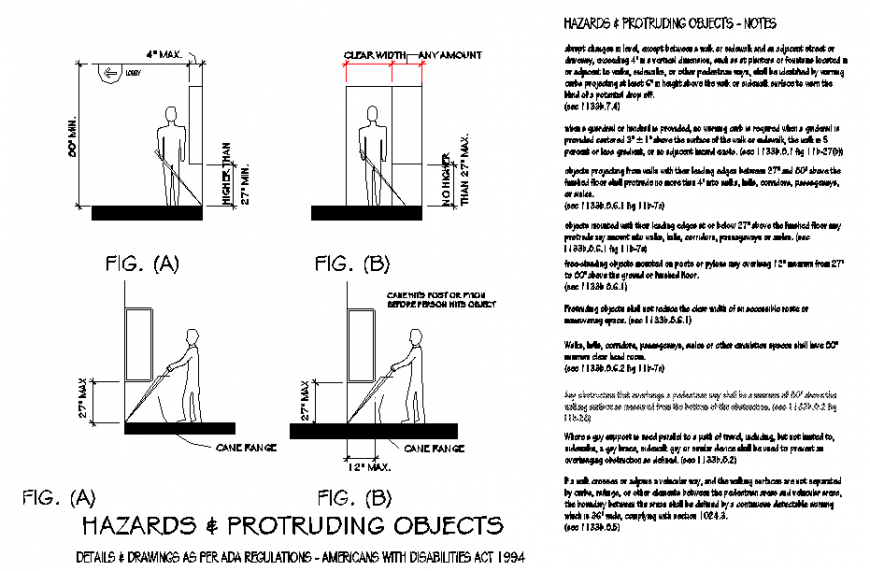 Hazards & protruding objects detail