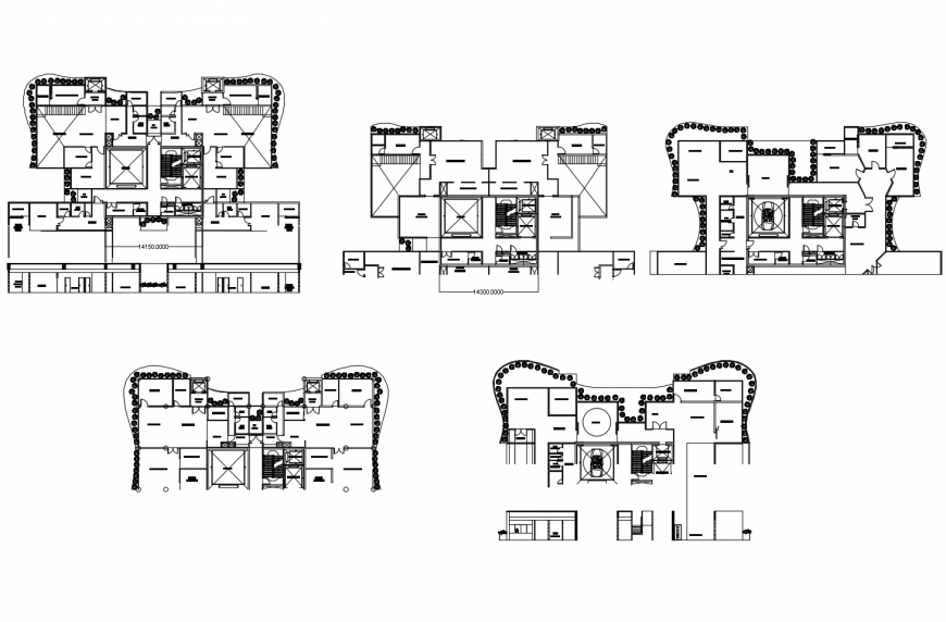 Head office building floor plan distribution cad drawing details dwg file