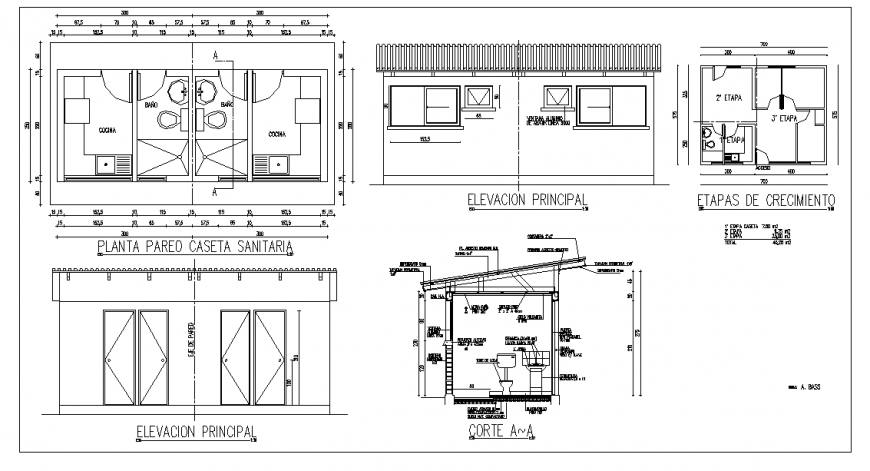 Health Care floor plan, Elevation & Section Detail