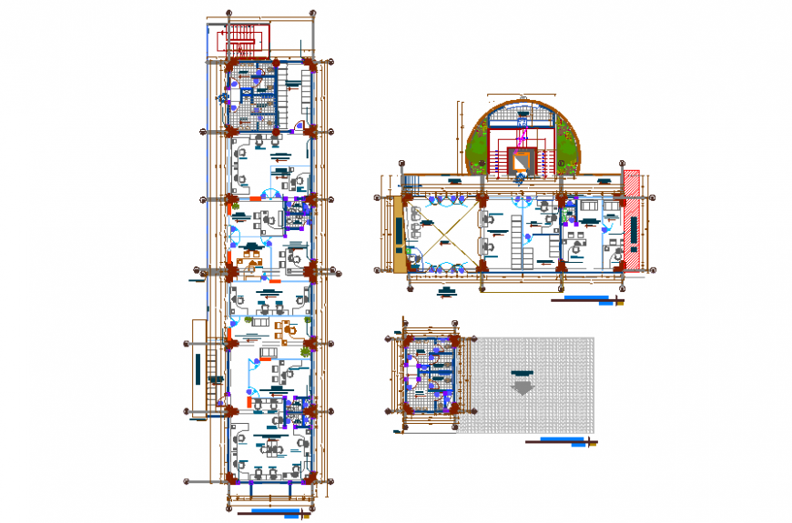 Health Center Floor Lay-out With Planing Detail