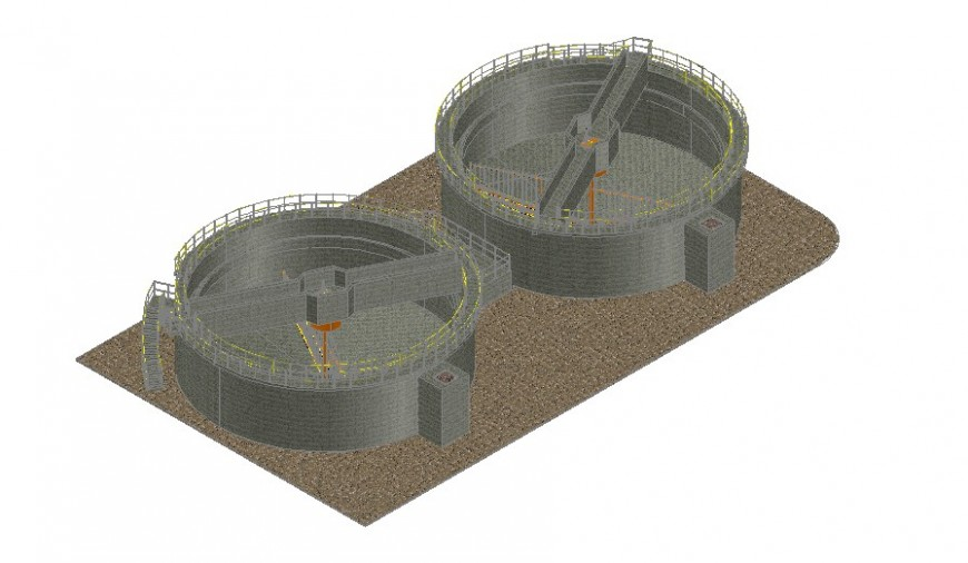 Heavy industrial machinery 3d drawing details dwg file