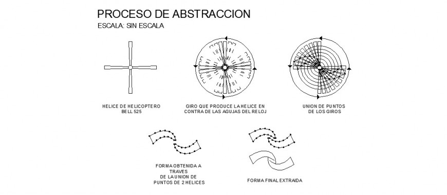 Helicopter rotor system detail drawing in dwg AutoCAD file.