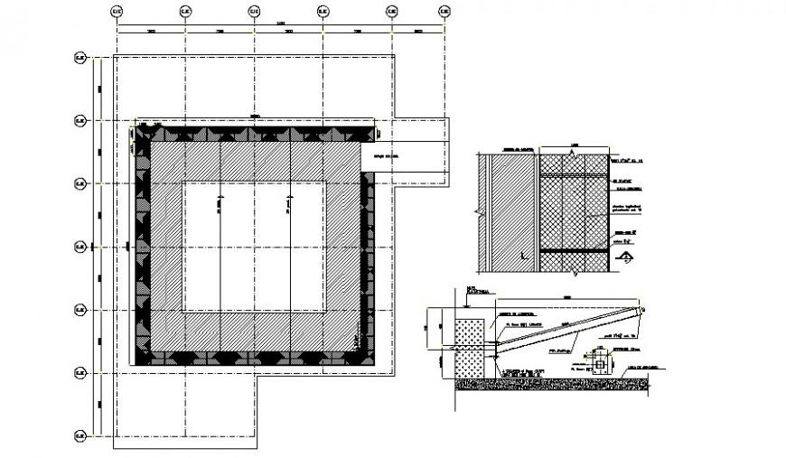 Heliport details 2d drawing plan autocad file