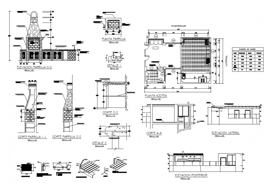 Heritage building structure detail 2d view CAD block layout file in dwg file