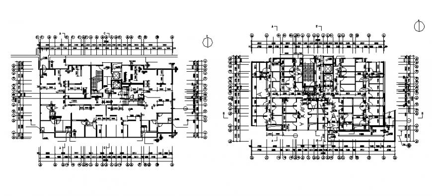 High-rise residential building basement floor plan details dwg file