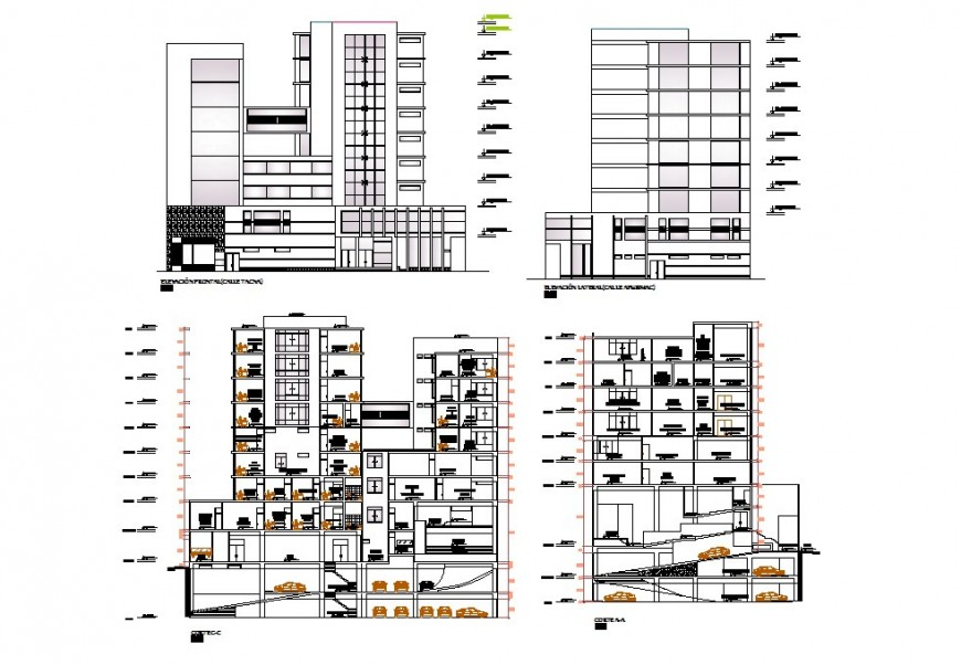 High rise building concept detailing