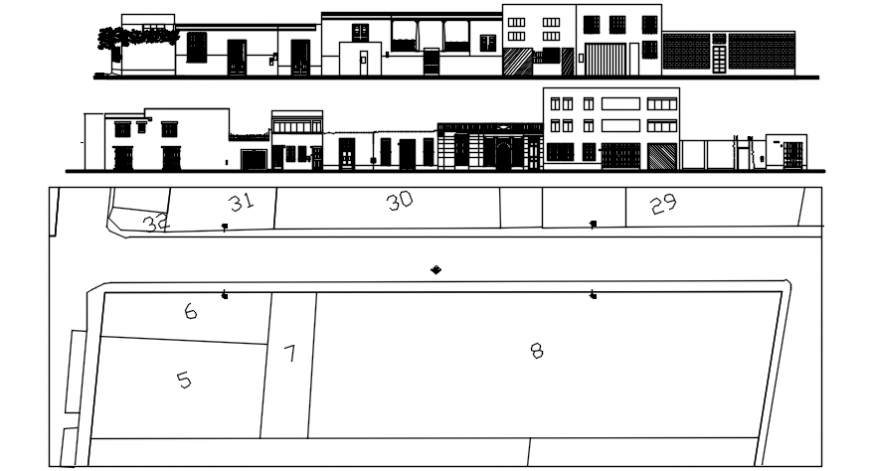 High rise building concept elevation model detail