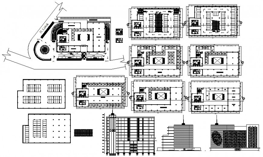 High rise building drawings in autocad software