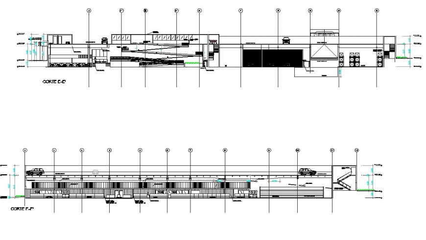 High rise building elevation detail file