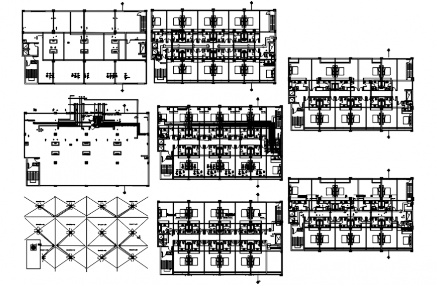 High rise office building floor and electrical installation plan drawing details dwg file