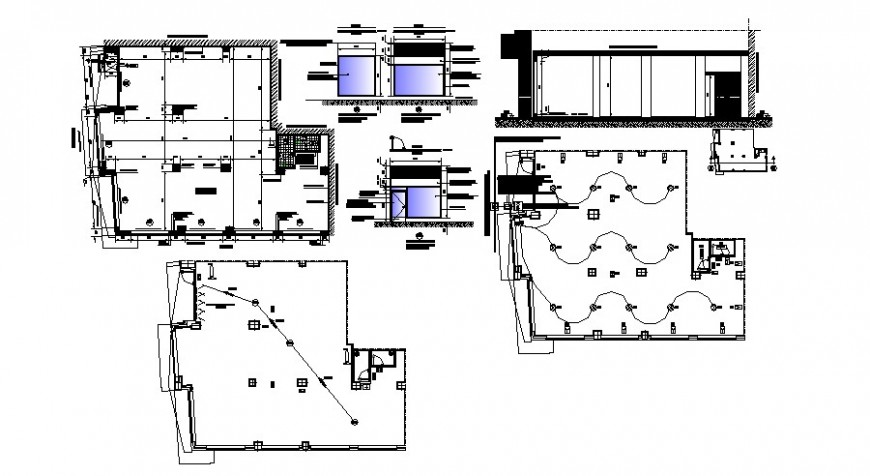 Historical store model elevation, section and auto-cad drawing details dwg file