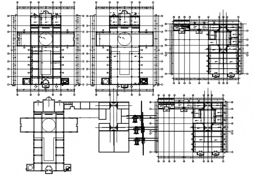 Holly place church plan in AutoCAD file