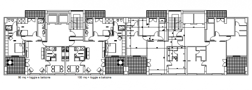 Home plan with distribution and part of an architecture dwg file
