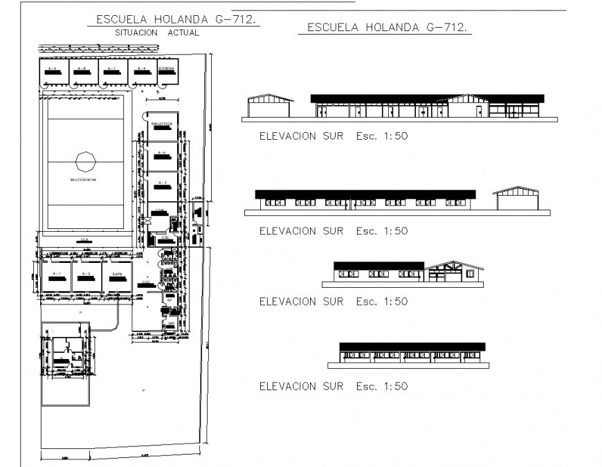 Honda showroom plan and section autocad file