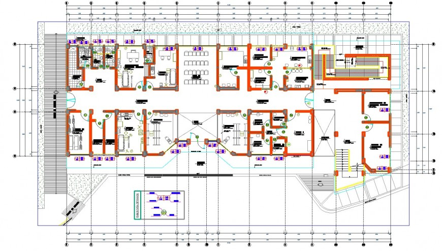 Hospital  plan drawing in dwg AutoCAD file.