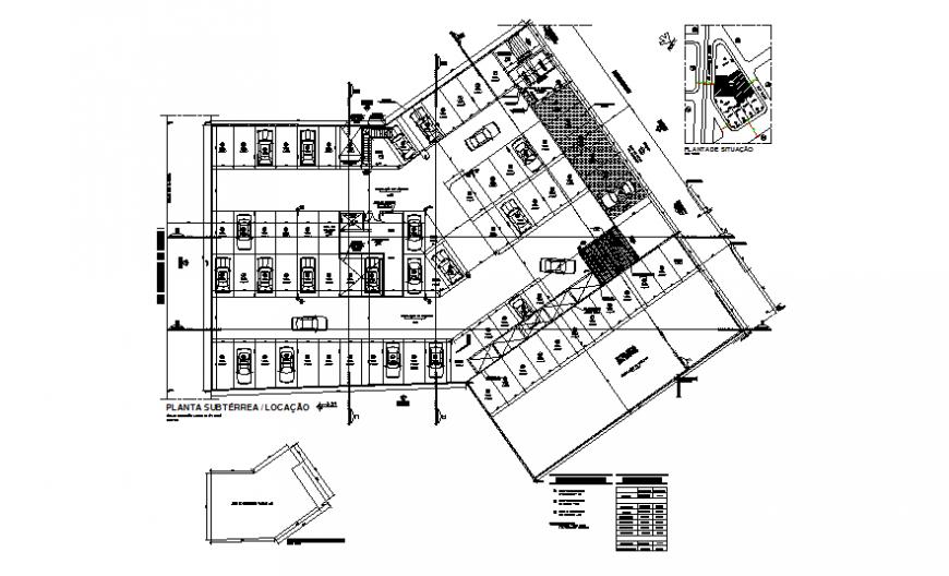 Hospital basement car parking floor area plan cad drawing details dwg file