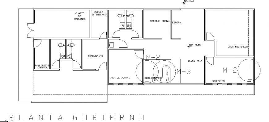 Hospital bathroom & Sanitary detail