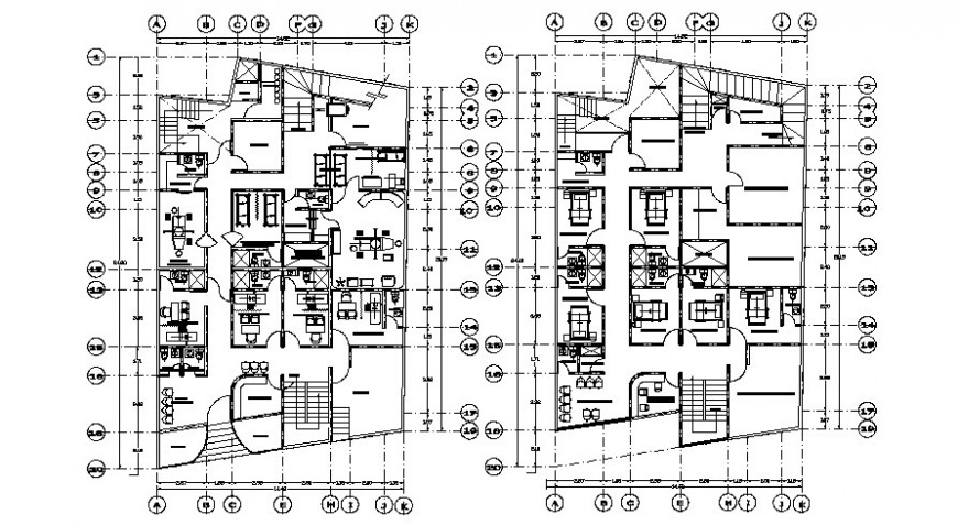 Hospital building drawings 2d view floor plan layout autocad software file
