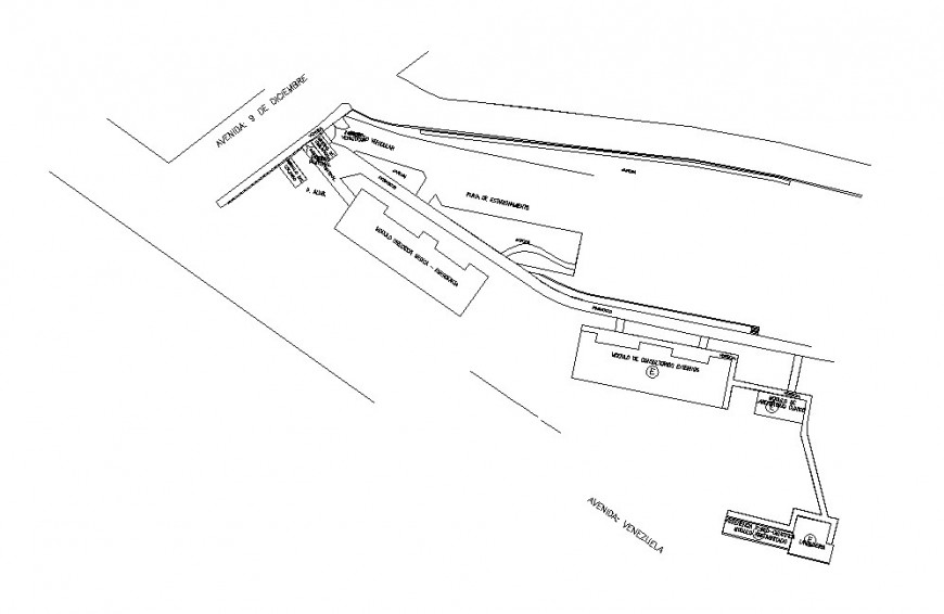 Hospital building site layout plan cad drawing details dwg file
