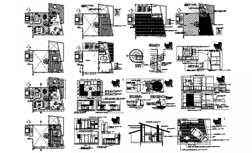 Hospital clinic 2d drawing work plan in Autocad