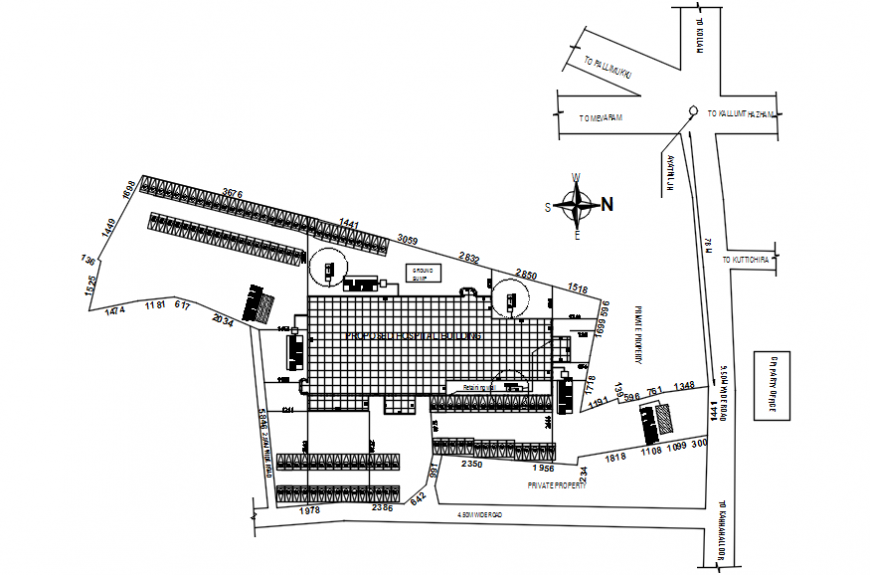 Hospital construction layout plan top view details