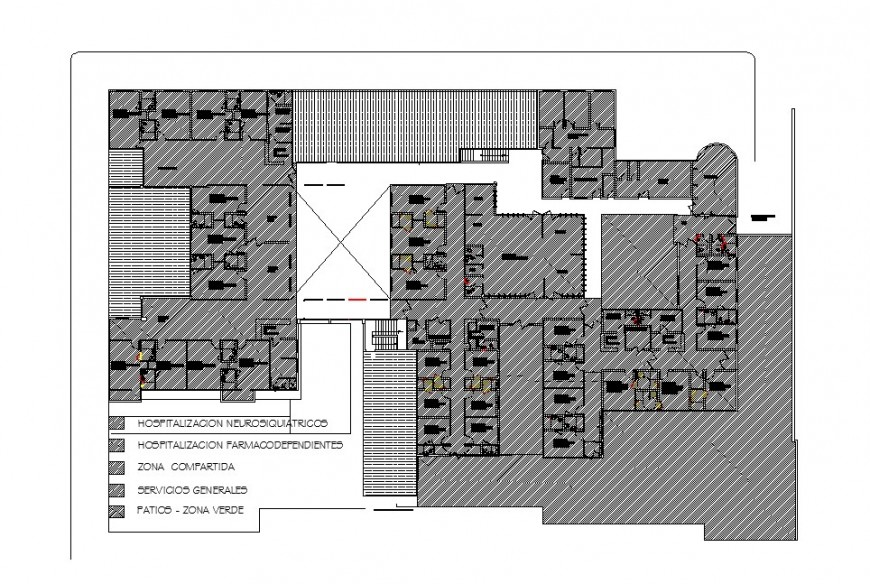 Hospital department architecture layout plan cad drawing details dwg file