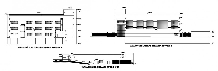 Hospital elevation working detail drawing in dwg AutoCAD file.