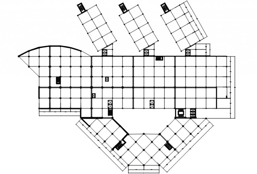 Hospital floor framing structure cad drawing details dwg file