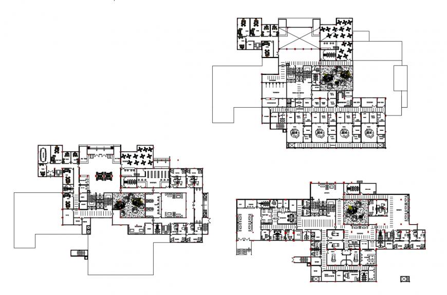 Hospital floor plan in autocad file