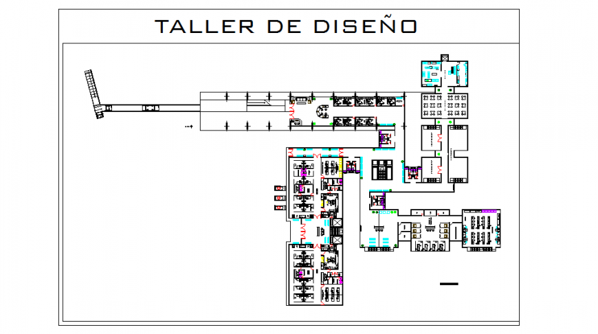 Hospital floor plan with dimension Autocad File