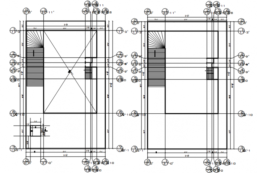 Hospital floors framing plan structure cad drawing details dwg file