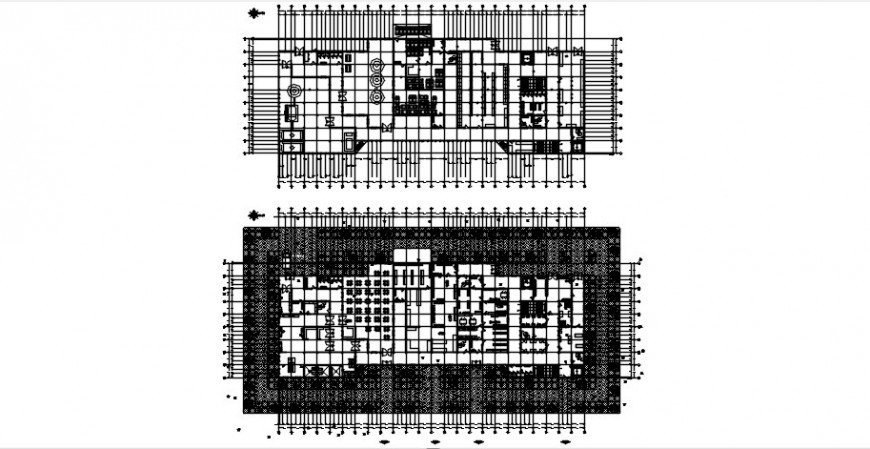 Hospital floors layout plan with furniture cad drawing details dwg file