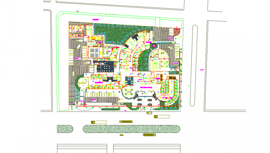 Hospital Lay-out Plan Detail in DWG file