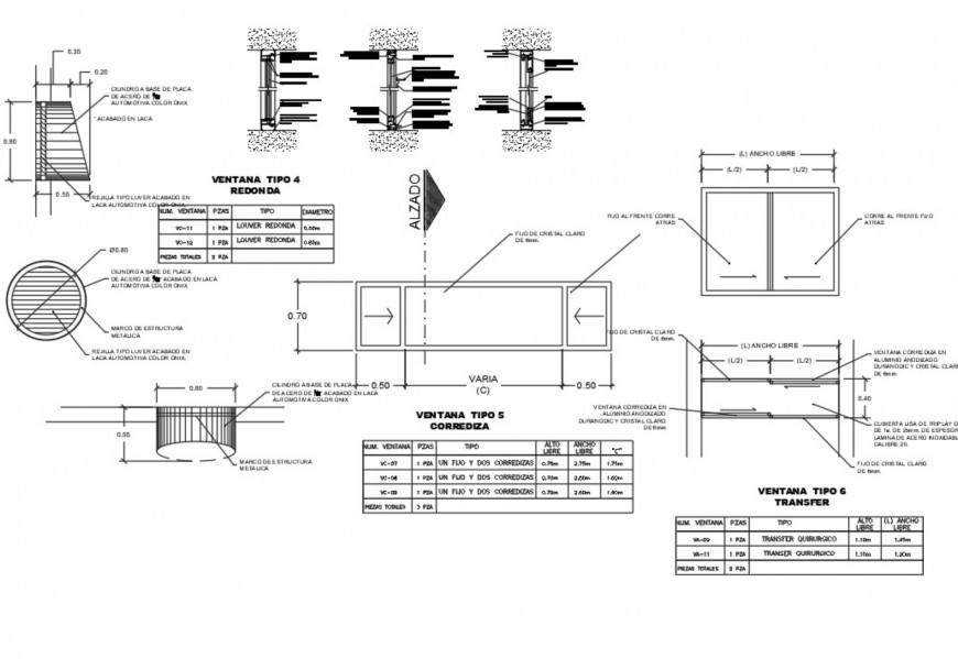 Hospital openings detail autocad file