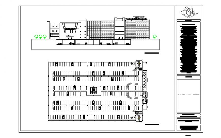 Hospital Parking Lay-out & Front side Elevation Design