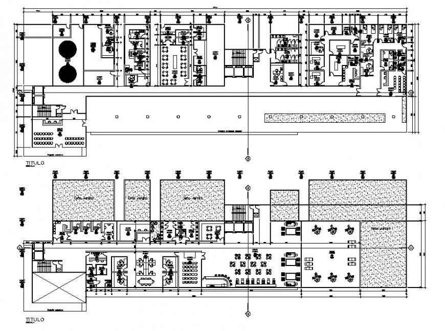 Hospital project detail layout plan cad file