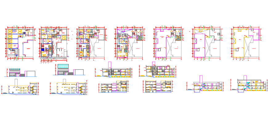 Hospital project dwg autocad drawing Design