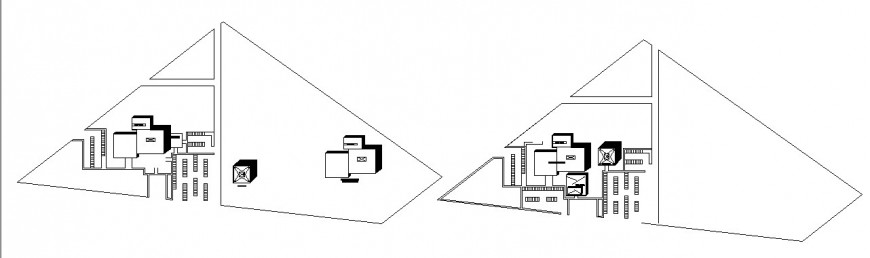 Hospital site plan detail drawing in dwg AutoCAD file.