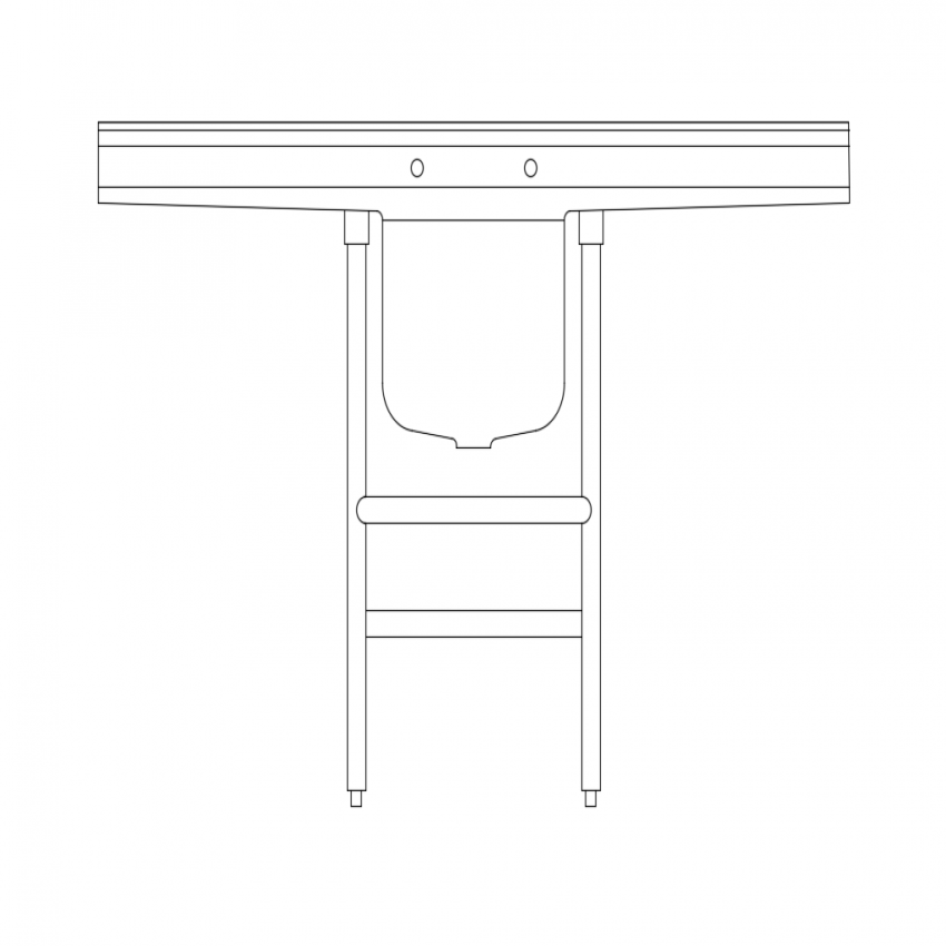 Hospital table with sink cad block design dwg file