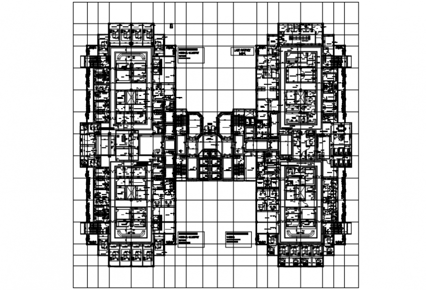 Hospital top view layout plan view and file details